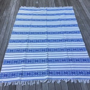 Vintage Embroidered + Woven Coverlet/Throw/Etc.